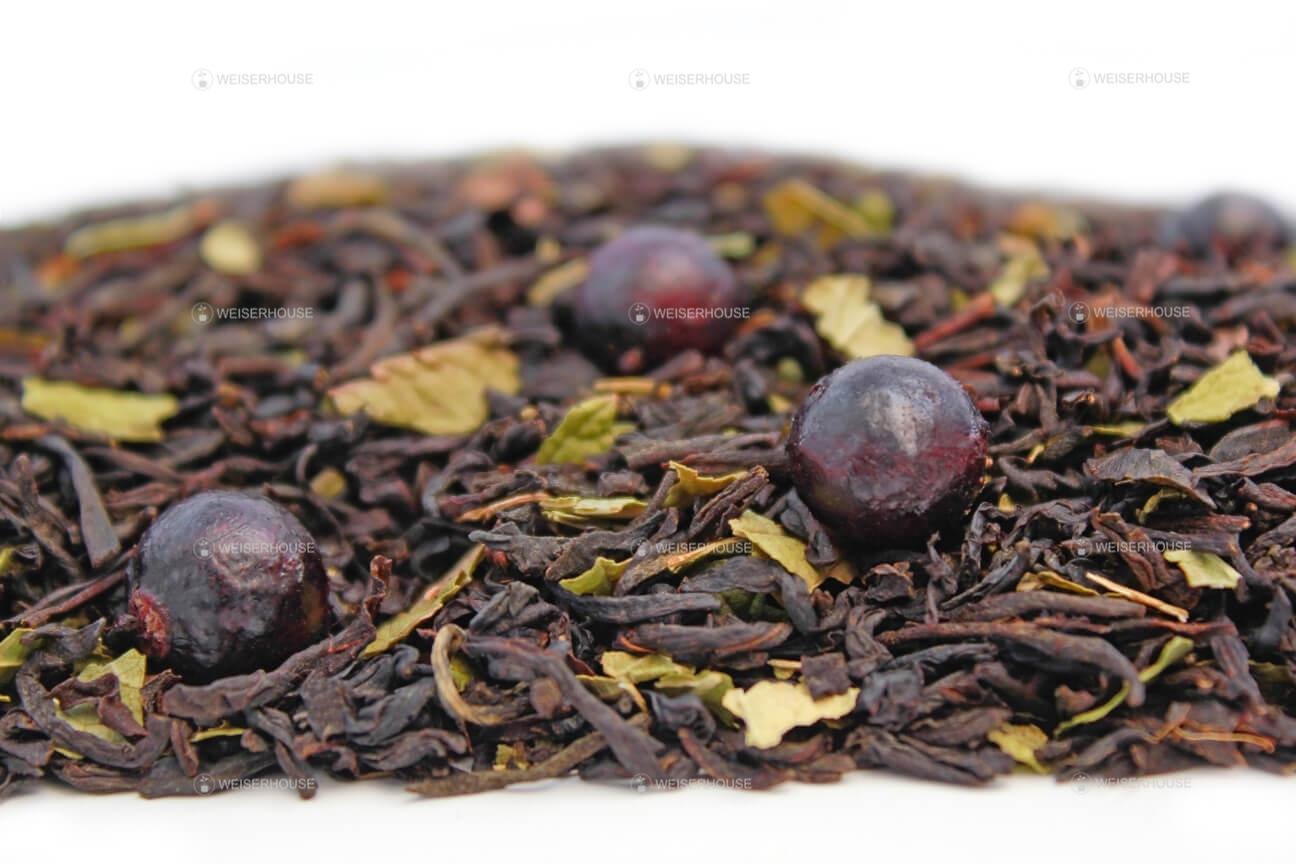 чай со свежей смородиной